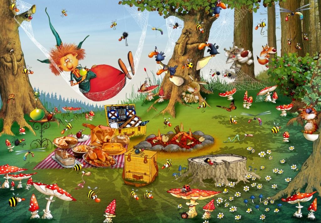 grafika-kids-francois-ruyer-pic-nique-de-la-sorciere-puzzle-100-pieces.61797-1.fs